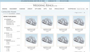 Wedding Rings E-Commerce Website Design