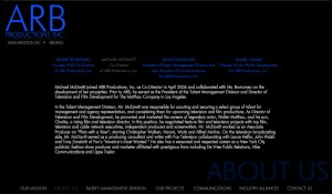 ARB Productions Interactive Website Design 4
