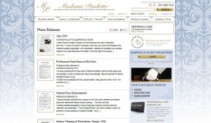 Madame Paulette Wordpress Website Design 1